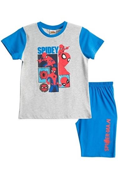 Spider-Man Spiderman Lisanslı Siyah Erkek Çocuk Bermuda Takımı Gri